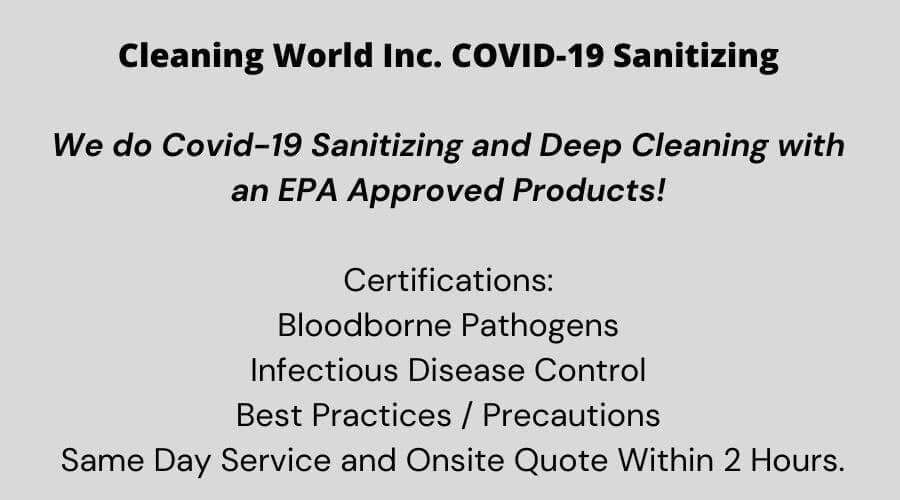 NJ cleaning services covid-19 statement