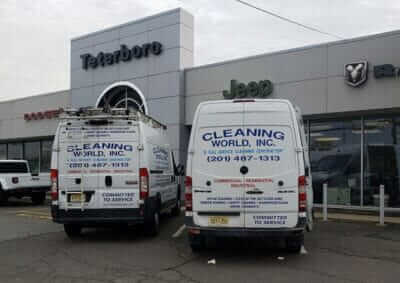 cleaning world NJ cleaning services trucks
