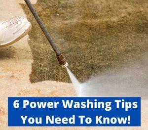 power washing tips