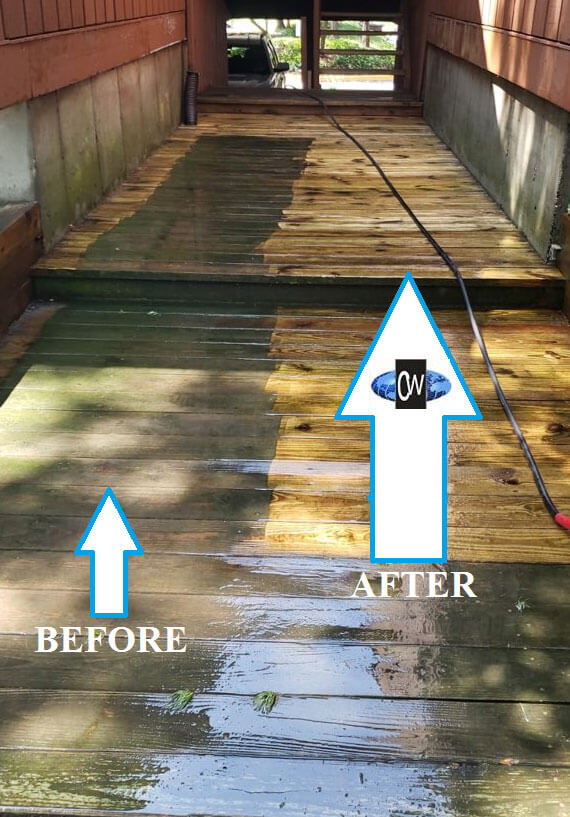 Power washing NJ before and after