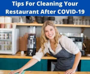 tips for cleaning restaurant after COVID-19