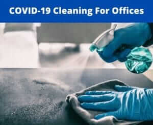 how to covid clean an office