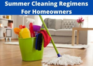 best summer cleaning regimens for homeowners