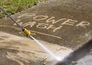 can I power wash brick?